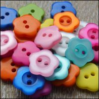 12mm Pearly Flower Buttons