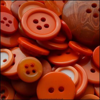 35g Mixed Orange Buttons