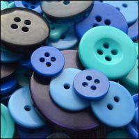 35g Pack  Mixed Blue Buttons