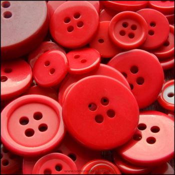 35g Mixed Red Buttons