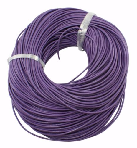2mm Round Leather Cord - Purple