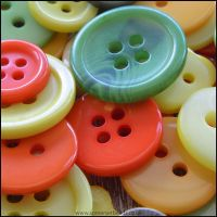 Mixed Citrus Coloured Craft Buttons - Pack of 50