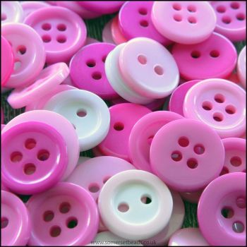 Small Mixed Pink Buttons