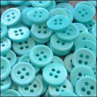 11mm Aqua 4 Hole Resin Buttons