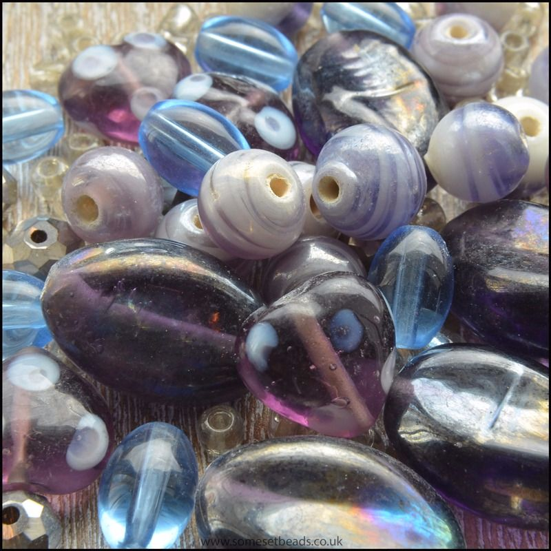 Purple Luster Design Bead Pack