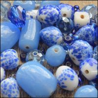 China Blue Design Beading  Pack