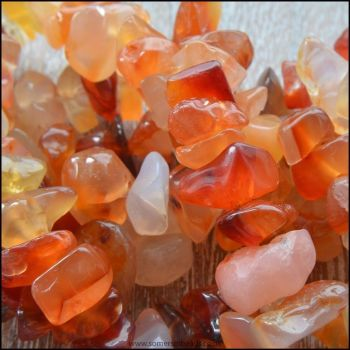 Carnelian Semi Precious Gemstone Large Chips
