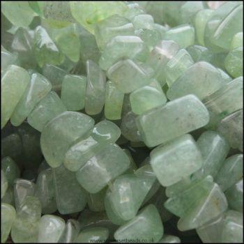 Green Aventurine Gemstone Stone Chip Beads