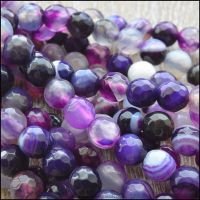 6mm Faceted Purple Madagascar Agate Beads