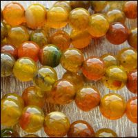 6mm Natural Dragons Vein Agate Plain Round Beads