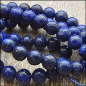 6mm Natural Lapis Lazuli Round Beads
