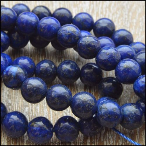 6mm Dyed  Lapis Lazuli Round Beads