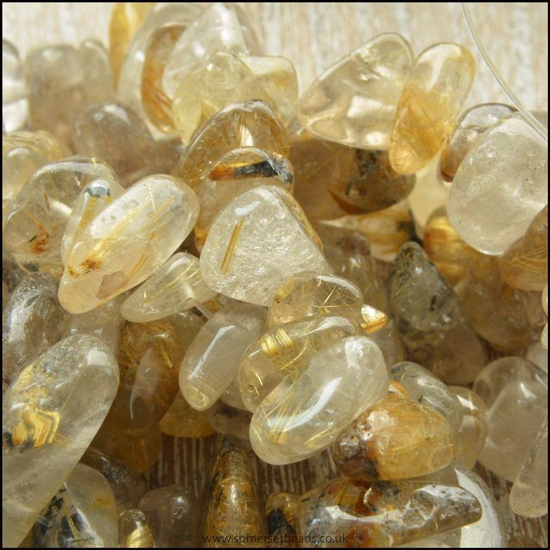 Golden Rutilated Quartz Chips 8mm - 12mm