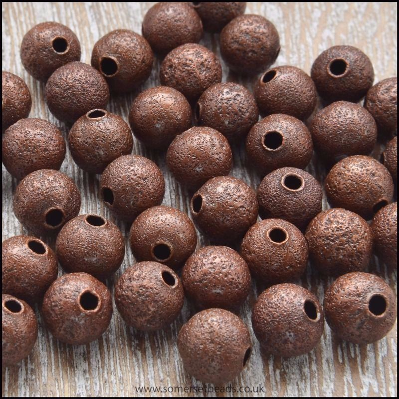 6mm Copper Stardust Beads