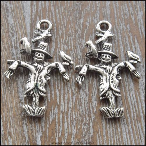 Silver Tone Scarecrow Charms