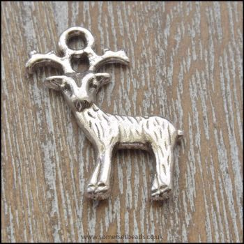 Tibetan Style Antique Silver Deer Charms