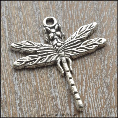 Silver Tone Dragonfly Charms