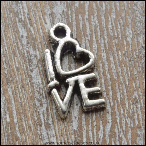 Silver Tone Love Charm