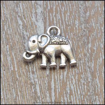 Silver Tone Elephant Charm