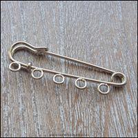 <!-- 081 -->Silver 5 Loop Kilt Pins