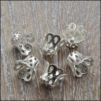 7mm Silver Filigree Bell Bead Cap