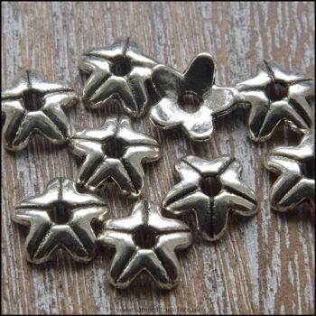 9mm Tibetan Silver Style Star Bead Cap