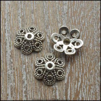 12.5mm Tibetan Silver Style Bead Caps