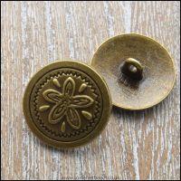<!-- 010 -->20mm Bronze Colour Button Clasp