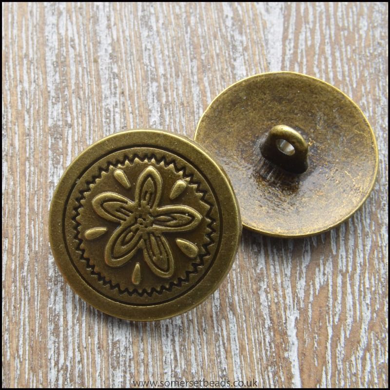 20mm Bronze Colour Button Clasp