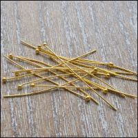 35mm Gold Ball Head Pins