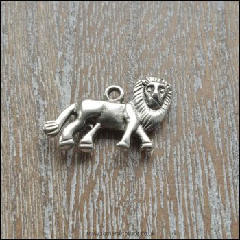 Silver Tone Lion Charms