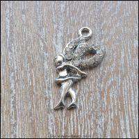 Sparkly Silver Rhinestone Fairy Charm