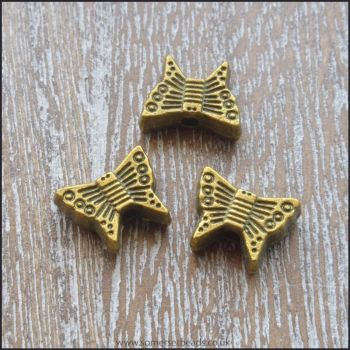 Antique Bronze Butterfly Spacer Beads
