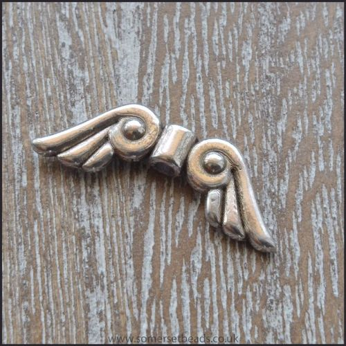21mm Scroll Design Angel Wings