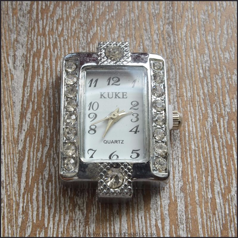 Rectangle Rhinestone Watch Face For Jewellery Making