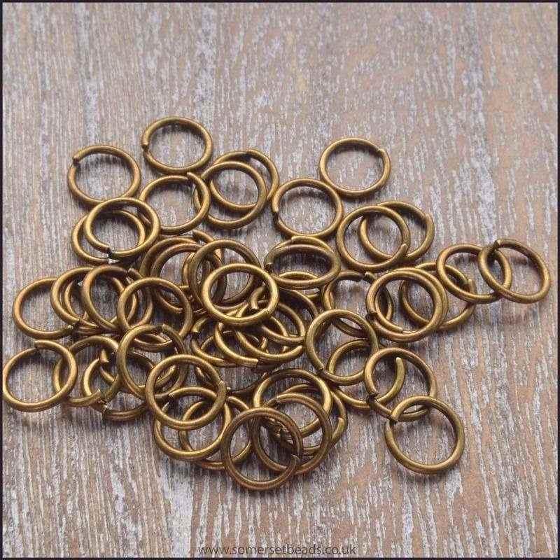 6mm Bronze Open Jump Rings