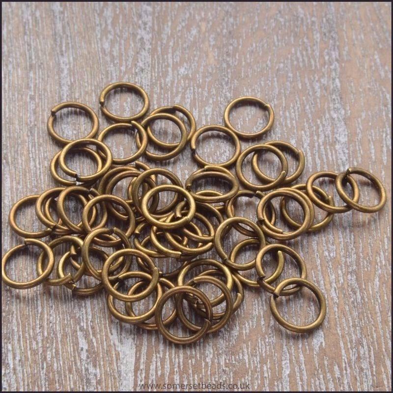 7mm Bronze Open Jump Rings
