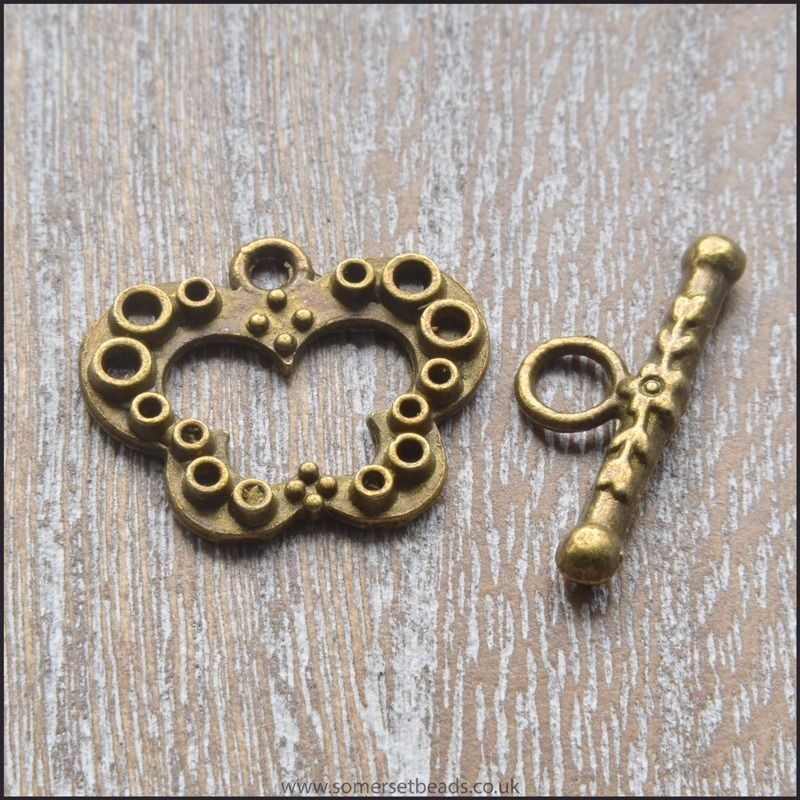 Bronze Coloured Butterfly Toggle Clasps