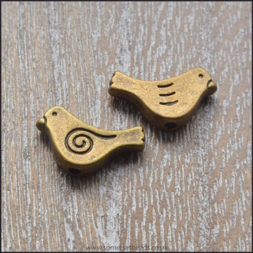 Bronze Bird Shaped Spacer Beads