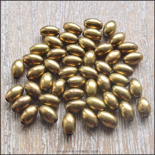 Oval Bronze Spacer Beads 6mm