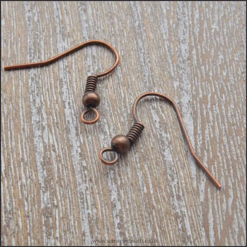 18mm Copper Coloured Shepherds Hook Ear Wires