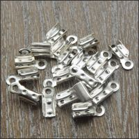 10mm Silver Plated Fold Over Cord Ends