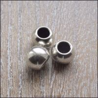 <!-- 038 -->Antique Silver Large Hole European Style Spacer Beads
