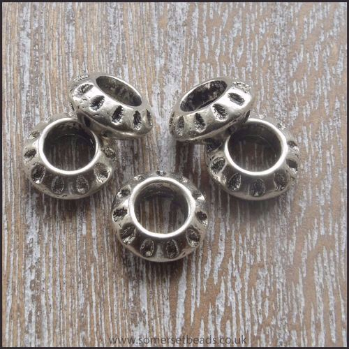 Tibetan Silver Style Thin  European Spacer Beads