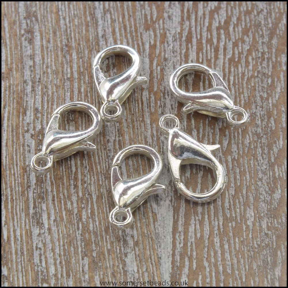 Silver Plated Medium Lobster / Trigger Clasps