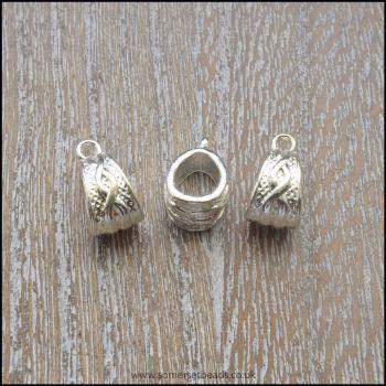 Tibetan Silver Bail Bead/ Charm Carriers