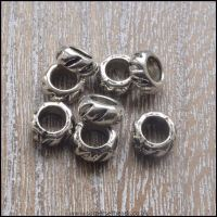 <!-- 089 -->Tibetan Silver Style European Spacer Beads