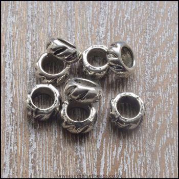 Tibetan Silver Style European Spacer Beads