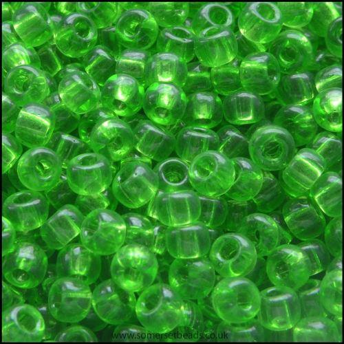 8/0 Lime Glass Miyuki Seed Beads - 8-144