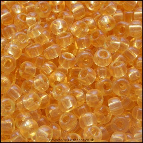 8/0 Light Topaz Glass Miyuki Seed Beads - 8-132